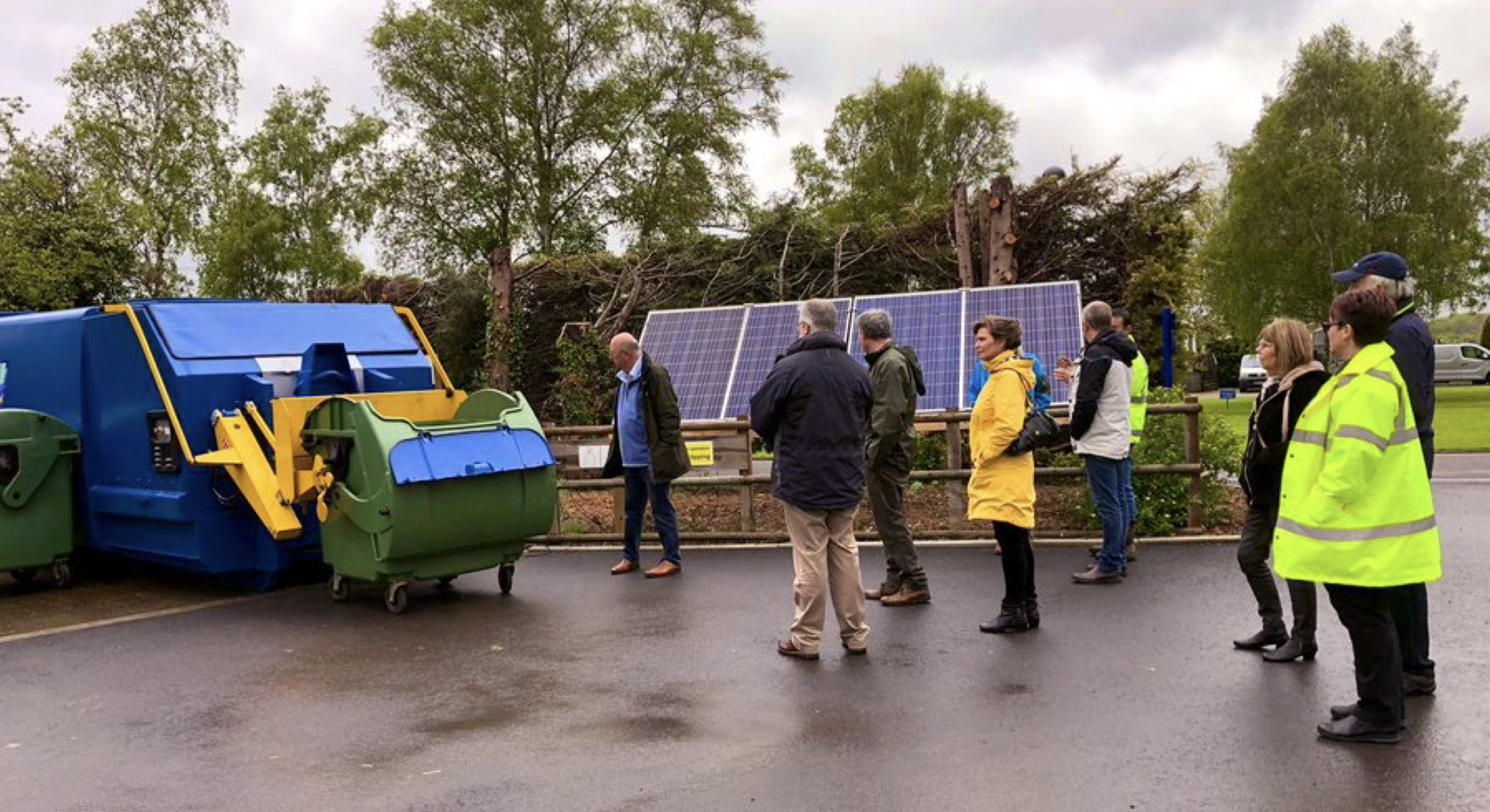 solar powered waste compactor